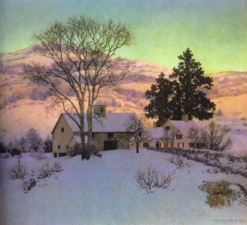 Afterglow by Maxfield Parrish