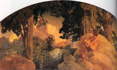 Dream Castle in the Sky by Maxfield Parrish