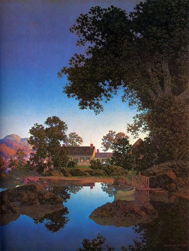 Evening Shadows by Maxfield Parrish