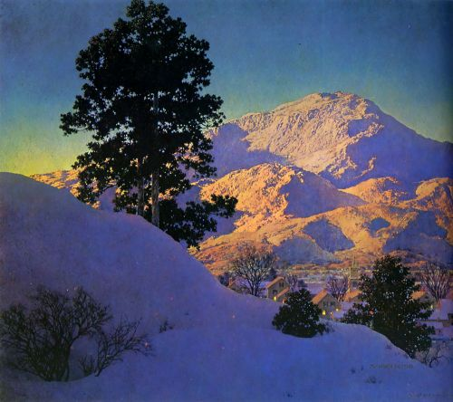Winter Sunrise by Maxfield Parrish