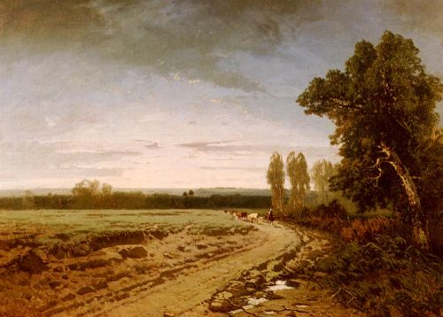 Going To The Pasture, Early Morning by Alberto Pasini