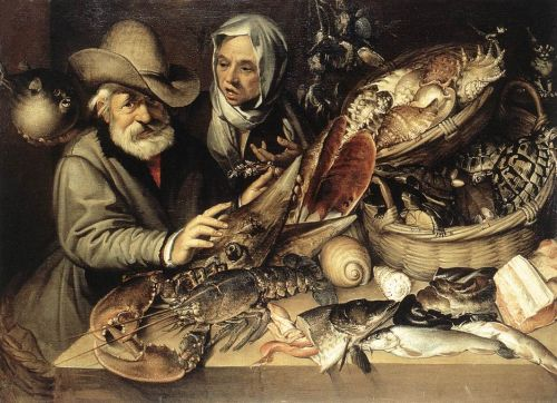 The Fishmonger's Shop by Bartolomeo Passarotti