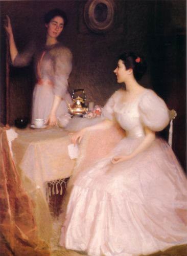 Mollie Scott and Dorothy Tay by William McGregor Paxton