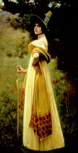 The Shawl by Charles Sprague Pearce