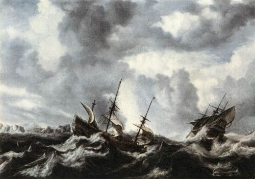 Storm on the Sea by Bonaventura Peeters