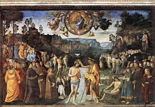 Baptism of Christ by Pietro Perugino