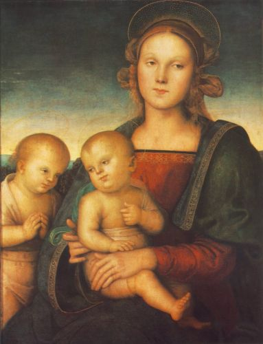 Madonna with Child and Little St John by Pietro Perugino