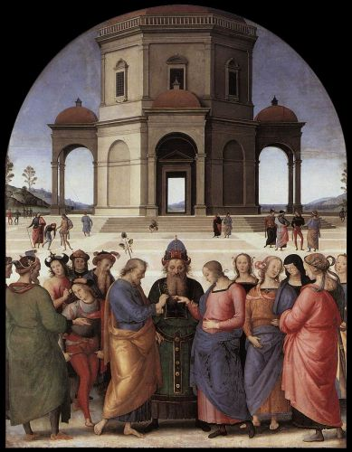Marriage of the Virgin by Pietro Perugino