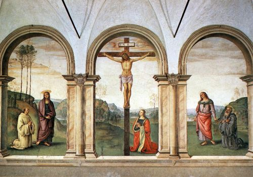 The Pazzi Crucifixion by Pietro Perugino