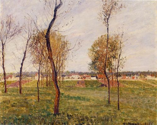 A Meadow in Moret, 1901 by Camille Pissarro