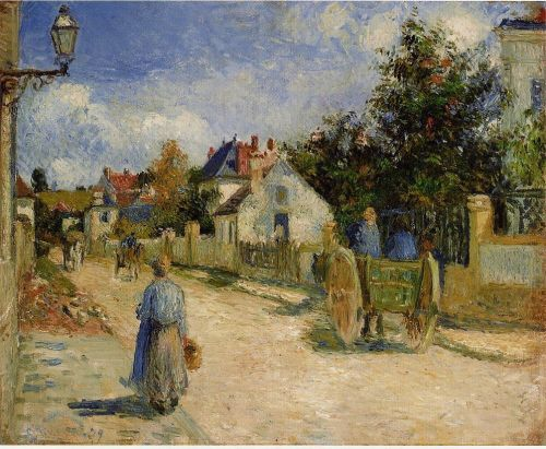 A Street in Pontoise, 1879 by Camille Pissarro