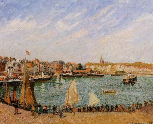 Afternoon, Sun, the Inner Harbor, Dieppe, 1902 by Camille Pissarro