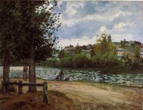 Banks of the Oise in Pontoise, 1870 by Camille Pissarro