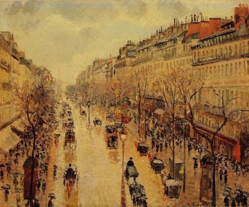 Boulevard Montmartre: Afternoon, in the Rain, 1897 by Camille Pissarro