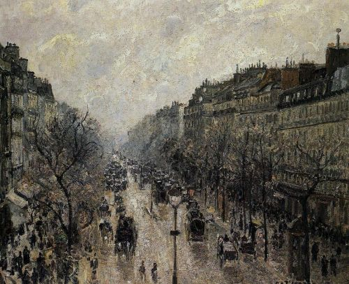 Boulevard Montmartre: Foggy Morning, 1897 by Camille Pissarro