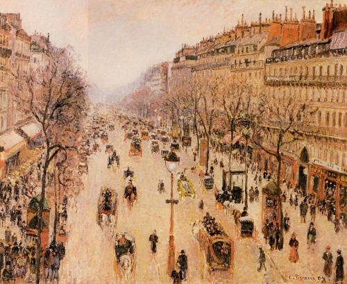 Boulevard Montmartre: Morning, Grey Weather, 1897 by Camille Pissarro