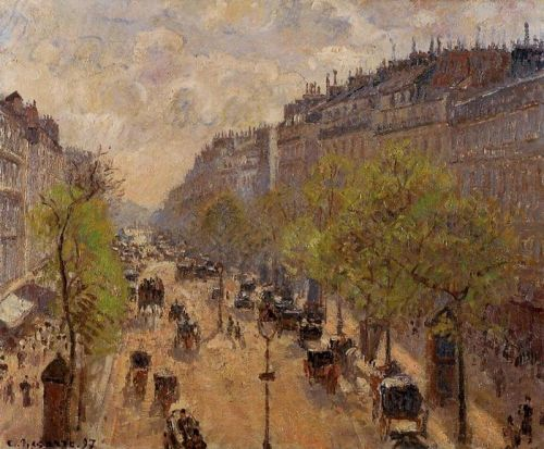 Boulevard Montmartre: Spring, 1897 by Camille Pissarro