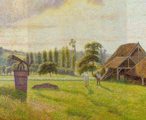 Brickworks at Eragny, 1888 by Camille Pissarro