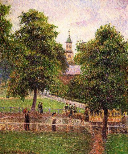 Church at Kew, 1892 by Camille Pissarro