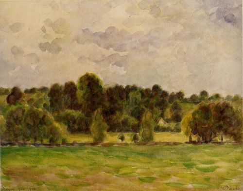 Eragny, Twilight, 1890 by Camille Pissarro
