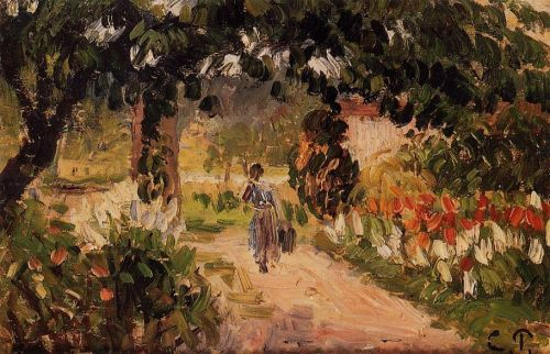 Garden at Eragny, 1899 by Camille Pissarro