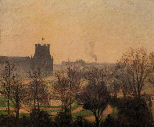 Garden of the Louvre: Fog Effect, 1899 by Camille Pissarro