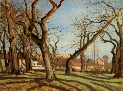 Groves of Chestnut Trees at Louveciennes, 1872 by Camille Pissarro