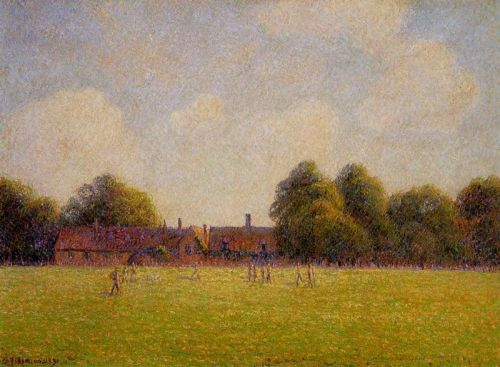 Hampton Court Green, London, 1890 by Camille Pissarro