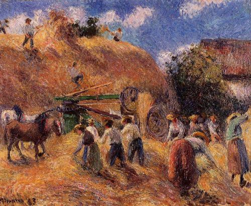 Harvest, 1883 by Camille Pissarro