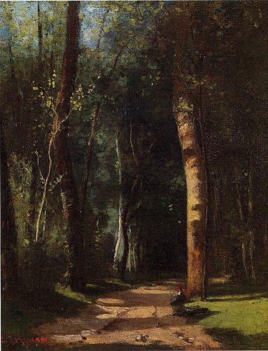 In the Woods, 1859 by Camille Pissarro