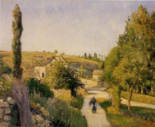Landscape at l'Hermitage, Pontoise, 1874 by Camille Pissarro