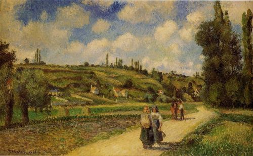 Landscape near Pontoise, the Auvers Road, 1881 by Camille Pissarro