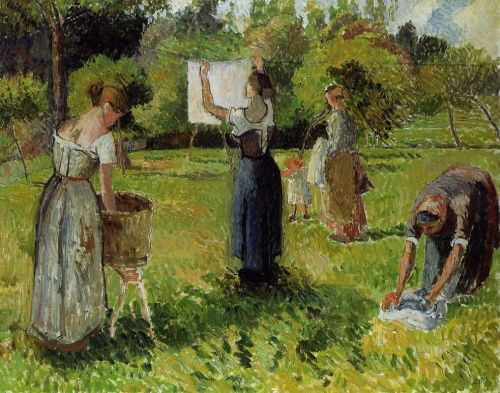 Laundresses at Eragny, 1901 by Camille Pissarro