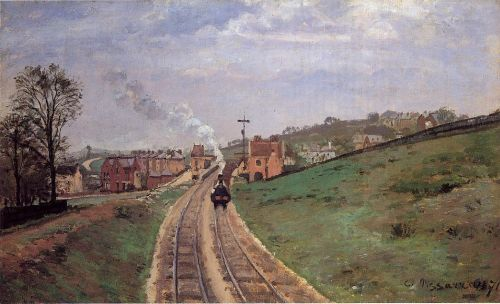 Lordship Lane Station, Dulwich, 1871 by Camille Pissarro
