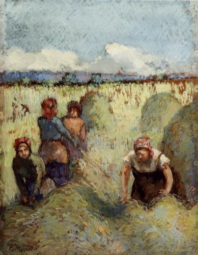 Making Hay, 1895 by Camille Pissarro
