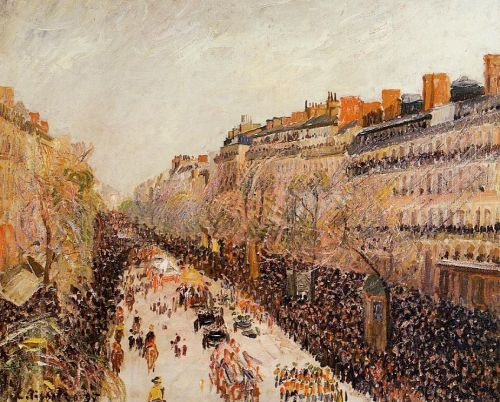 Mardi-Gras on the Boulevards, 1897 by Camille Pissarro
