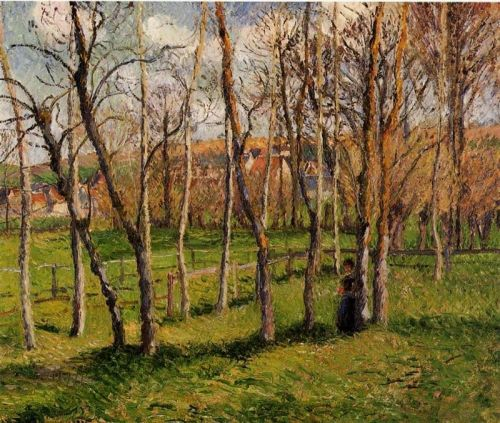 Meadow at Bazincourt, 1885 by Camille Pissarro