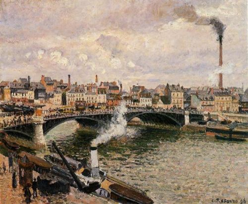 Morning, Overcast Day, Rouen, 1896 by Camille Pissarro