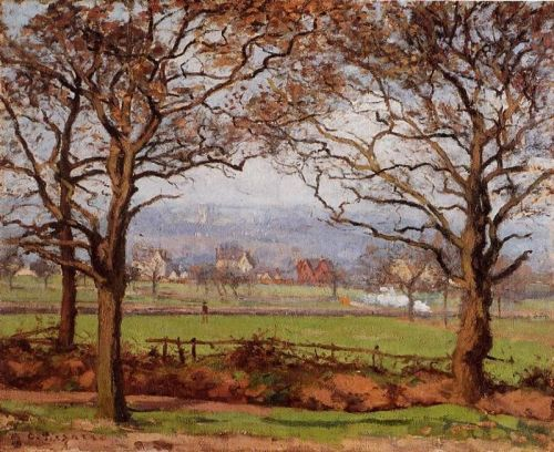 Near Sydenham Hill, Looking towards Lower Norwood, 1871 by Camille Pissarro