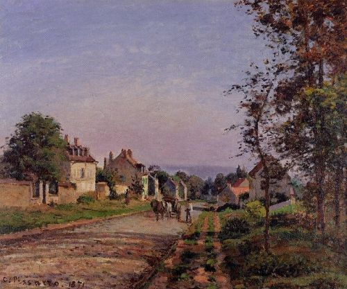 Outskirts of Louveciennes, 1871 by Camille Pissarro