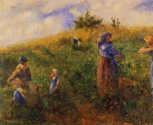 Picking Peas, 1880 by Camille Pissarro
