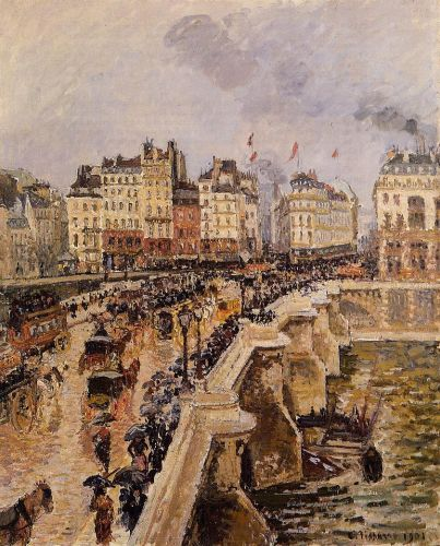 Pont-Neuf: Rainy Afternoon, 1901 by Camille Pissarro