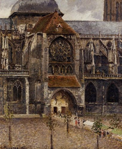 Portal of the Church Saint-Jacques, Dieppe, 1901 by Camille Pissarro