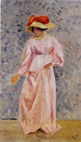 Portrait of Jeanne in a Pink Robe, 1897 by Camille Pissarro