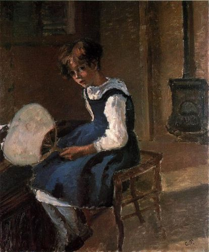 Portrait of Jeanne with a Fan, 1873 by Camille Pissarro