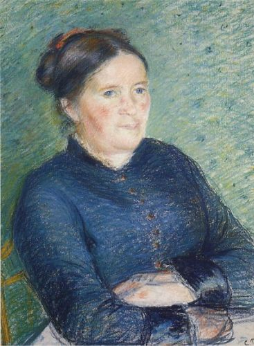 Portrait of Madame Pissarro, 1883 by Camille Pissarro