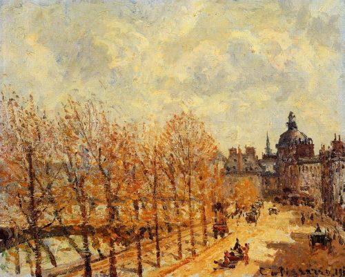 Quai Malaquais, Morning, Sunny Weather, 1903 by Camille Pissarro