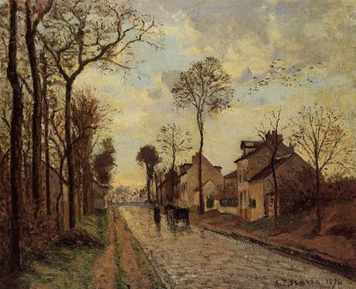 Road in Louveciennes, 1870 by Camille Pissarro