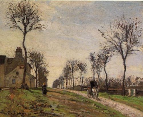 Road to Louveciennes, 1870 by Camille Pissarro