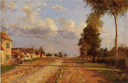 Road to Racquencourt, 1871 by Camille Pissarro